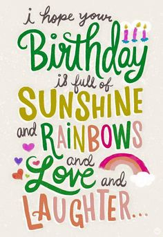Happy Birthday Wishes And Birthday Greetings – Birthday Cards Happy Birthday Love, Happy Birthday Pictures, Happy Birthday Messages, Happy Birthday Greetings, Birthday Sayings, Happy Birthday Sunshine, Birthday Quotes For Best Friend, Happy Birthday Rainbow, Funny Birthday