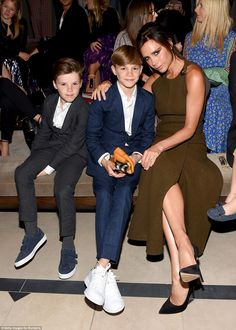 Beckham Family Front Row at Burberry | DailyMail