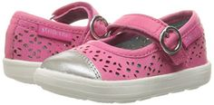 Stride Rite Poppy Mary Jane (Toddler/Little Kid), Pink, 8 M US Toddler: Girls laser cut mary jane with adjustable strap Girls Shoes, Baby Shoes, Clearance Shoes, Branded Bags, Big Kids, Mary Janes, Poppies, Tory Burch, Footwear