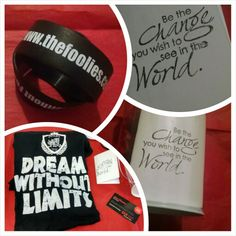 Handwritten letter. Wristbands. Dream Without Limits tee. Foolies Can. #Dreamer #Foolies