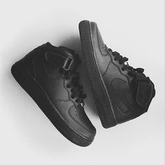 Nike Air Force 1 High Black Tumblr