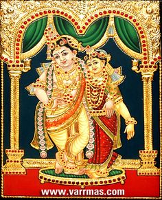 Painting indian god products new Ideas Mysore Painting, Tanjore Painting, Krishna Painting, Krishna Art, Krishna Lila, Radhe Krishna, Lord Krishna, Swan Painting, Mural Painting