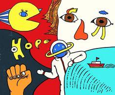 作品-57紙膠袋/畫廊-五七插畫設計