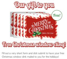 If you'd like to get a #Christmas window cling in the mail visit http://ift.tt/1VkbPAn & click #freebies at the top of the site! #mommyArticles