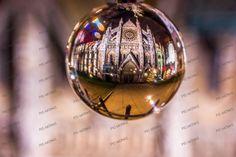The heritage church, photographed through a glass bubble. What a unique shot!