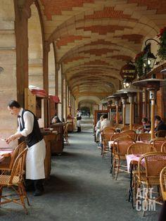 "Sidewalk Cafe in the Marais, Paris, France Photographic Print by Lisa S. Engelbrecht at Art.com 42"" x 56"""