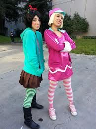 Taffyta and Vanellope costumes. More