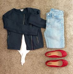 Because you can never have too many high rise skinnies! Paired perfectly with a bodysuit and my new Gap moto jacket.