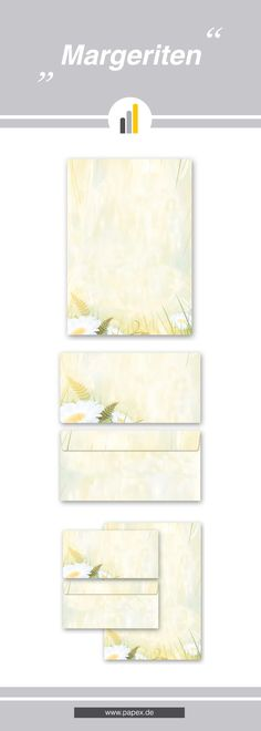 Briefpapier / Motivpapier MARGERITEN - Sagen Sie es »durch die Blume« mit unseren variantenreichen Blütenmotiven oder Designs aus vielen anderen Themenbereichen, um einem persönlichen Schreiben den richtigen Rahmen zu verleihen. Das Verwenden Sie unsere Produkte als Werbewirksame Zielgruppenmailings, Weihnachtsgrüße, für Angebote, als Saison-Briefpapier, für Einladungen, Glückwünsche, Speisekarteneinlagen, Aktionsprogramme, Feste, als Aushang im Schaufenster und für weitere tausend Anlässe.