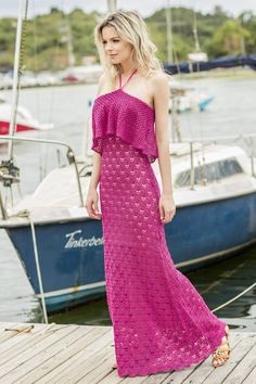 Gorgeous Crochet Maxi Dress Must-Have in Wardrobes – Designers Outfits Collection Crochet Summer Dresses, Crochet Summer Tops, Blouse Dress, Knit Dress, Mode Crochet, Crochet Woman, Crochet Blouse, Knit Fashion, Beautiful Crochet