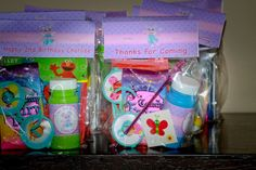 Abby Cadabby party favors Sofia Party, Elmo Party, Happy 2nd Birthday, 4th Birthday Parties, Seasame Street Party, Sesame Street Birthday Cakes, Unique Birthday Party Ideas, Abby Cadabby, Twins 1st Birthdays