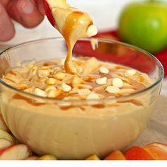 Skinny Caramel Apple Dip :: nowcooking