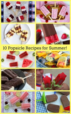 10 Popsicle Recipes to Help You Kick Off Summer!  Fruit, Fudgesicles, BUTTERFINGER, Raspberry Cheesecake, Red/White/Blue and more!