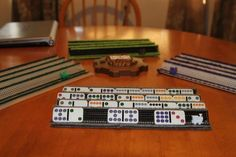 how to make mexican train domino rack