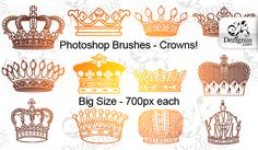 photoshop brushes - crowns