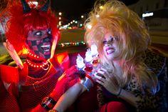 Wred Skayre lights up Tricksie Camaro. Aliens in LA. #aliensinla aliensinla.com