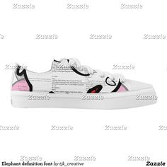 Elephant definition font Low-Top sneakers