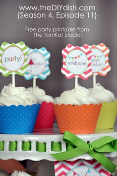 Cupcake Party topper printable
