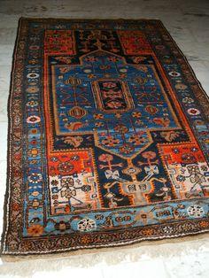 AMAZING OLD RUG CAUSASIAN TAPIS ANCIEN CAUCASE TAPIZ KAUKASUS PERFECT PARFAIT