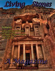 Single Hard Copy Issue Living Stones Masonic Magazine July 2012 - $5.50