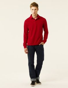 Cartagena Cotton Polo in Japan Red