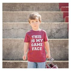 Football Sunday, y'all! •THIS IS MY GAME FACE!• We have limited quantities left in the shop! ❤️ • • • • • • #cutekidsclub #igfashion #kidzootd #instagram_kids #trendykiddies #babiesofinstagram #kidzfashion #kidslookbook #kids_stylezz #thechildrenoftheworld #igkiddies #disney #slay #parenthood #mommy #mommylife #mom #momlife #allmommedout #motherhood #mother #ilovefootball #clevelandbrowns #nfl #football