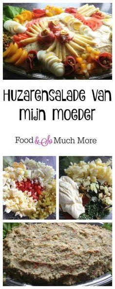 Huzarensalade van mijn moeder. Heerlijk! Recept staat op foodensomuchmore.nl