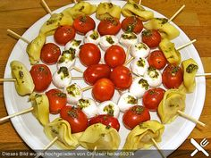 Tortellini - Spießchen, ein schönes Rezept aus der Kategorie Snacks und kleine Gerichte. Bewertungen: 77. Durchschnitt: Ø 4,2.