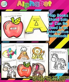 Alphabet Activities Bundle: Phonics A-Z Alphabet Books for Letter Sounds Handwriting Activities, Handwriting Alphabet, Phonics Activities, Alphabet Activities, Alphabet Crafts, Book Crafts, Alphabet Books, Alphabet Letters, Prek Literacy