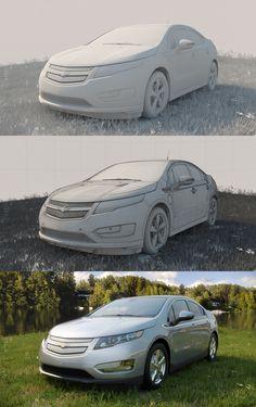 CG Automotive Breakdowns by Klokwerks , via Behance