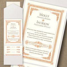 Thermo Southern Twilight Pocket Vintage Invitation - Vintage Wedding Invitation Ideas - Vintage Wedding Invites