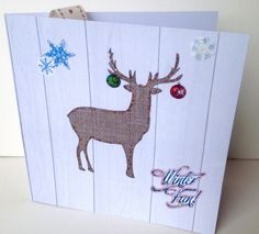Christmas Cards Five PK,Xmas Stag Design,Handmade Cards. £4.00