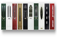 Take a look at just a small selection of front doors in the image below. Imagine something like this adorning the entrance to your home or business. The front door may just be the main entrance to your home or business, but there's no reason not to have something which looks great and an architectural fitting of style. There are millions of combinations, just give your imagination free reign to design your new front door.