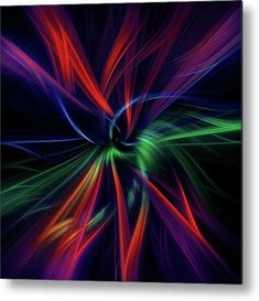 Fusion of Colors Square Digital Abstract 8 Metal Print by Jenny Rainbow See Photo, Photo Art, Photoshop Effects, Got Print, Any Images, Photo Manipulation, Art Techniques, Art World, How To Be Outgoing
