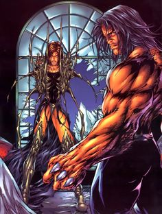 Image of Michael Turner (Top Cow Crossover) - Comic Vine - Witchblade and Wolverine Comic Book Artists, Comic Book Characters, Comic Artist, Comic Books Art, Michael Turner, Marvel Heroes, Marvel Comics, Fantasy Anime, Wolverine Art
