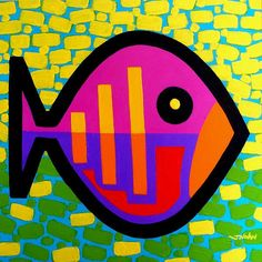 Funky Fish V Painting by John Nolan