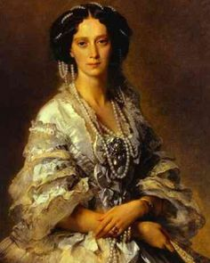 Portrait of Empress Marie Alexandranova in Pearls and Bodice Brooch