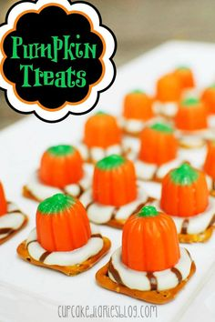 Pumpkin Treats #Halloween #Recipe #Halloween2014
