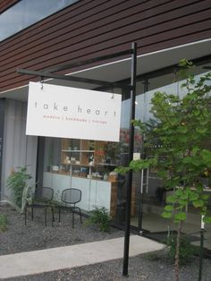Take Heart; a lovely little shop on E. 11th with handmade and vintage wares.  Lovely place, with a lovely proprietor, Nina.  http://takeheartshop.com/