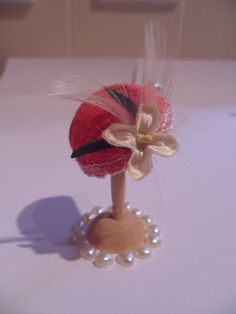 Dolls house miniature hand made art deco hat  by CAKEnCRUMBS, £5.00