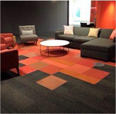 Create zones using carpet tiles