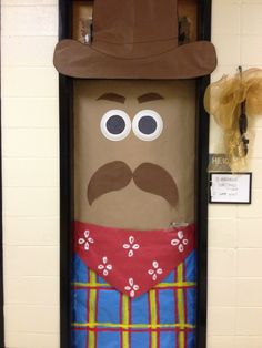 It's the way you ride the trail that counts. No Drugs, No Bullies! Cowboy door for cowboy day