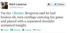 Bergeron you are an amazing human being.