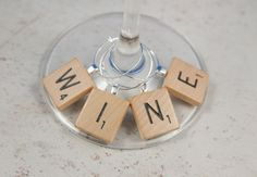 Scrabble wine charms-so adorable!