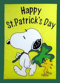 "Snoopy and Woodstock -- ""Happy St Patrick's Day St Patricks Day Pictures, St Patricks Day Quotes, Happy St Patricks Day, Patrick Quotes, Snoopy Love, Charlie Brown And Snoopy, Snoopy And Woodstock, Peanuts Cartoon, Peanuts Gang"