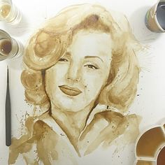 A beautiful picture made from coffee. # CCA loving life