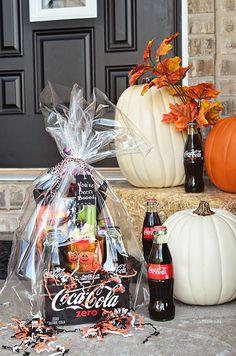 Halloween Boo Basket Ideas | Coca-Cola Halloween Boo Basket with free You've been Booed printable ...