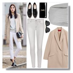 """Light colors"" by anne-mclayne ❤ liked on Polyvore featuring HUGO, Paige Denim, Zara, Yves Saint Laurent, Smoke & Mirrors, GetTheLook and StreetStyle"