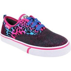 Airspeed Girl's Canvas Sneaker - Exclusive color, Size: 1, Multicolor