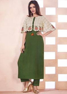 Indo Western Outfits: Buy Indo Western Dresses For Women Salwar Designs, Kurta Designs Women, Kurti Neck Designs, Dress Neck Designs, Kurti Designs Party Wear, Blouse Designs, Stylish Dresses, Casual Dresses, Fashion Dresses